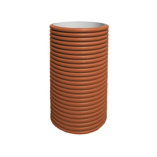 Tõusutoru PP-DW 630x550 SN8 topeltseinaga pruun Pipelife