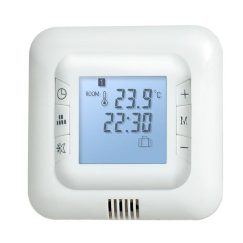 Termostaat HT-110, 16A, 230V, põranda- ja ruumianduriga, digitaalse ekraaniga, valge, Heber