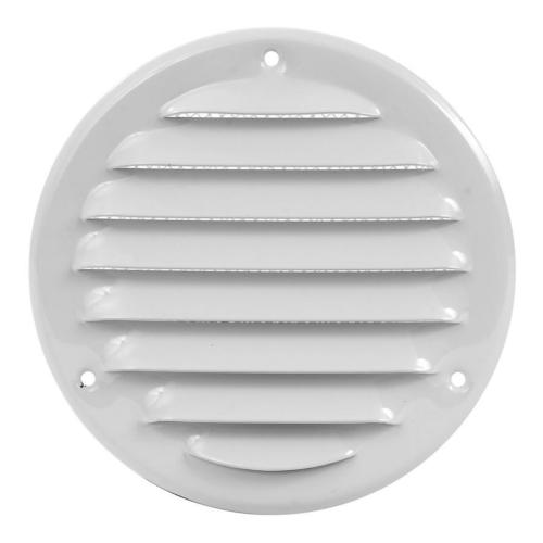 Ventilatsioonirest 125 valge metall