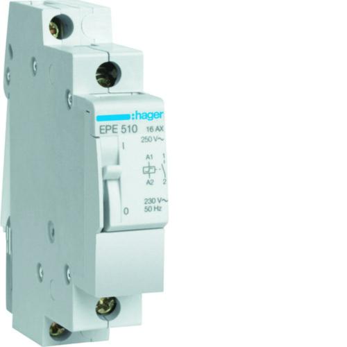 Impulssjuhtimisega relee, 1 normaalselt avatud kontakt, 16A 230V Hager