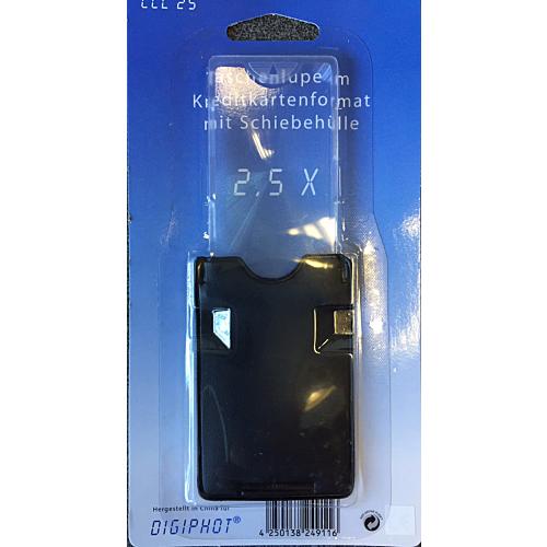 Luup taskuga krediitkaardi formaadis, Digiphot