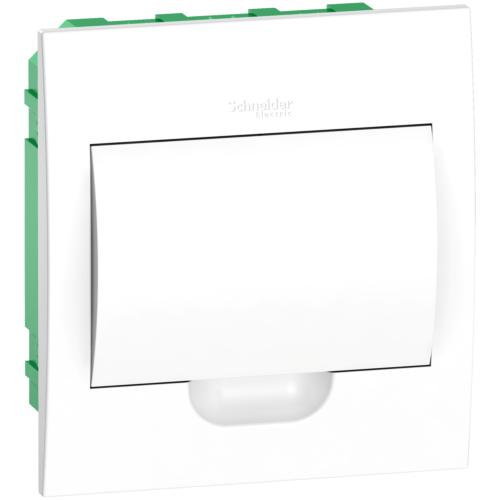 Jaotuskilp süv. 8mod. uks valge IP40 plast