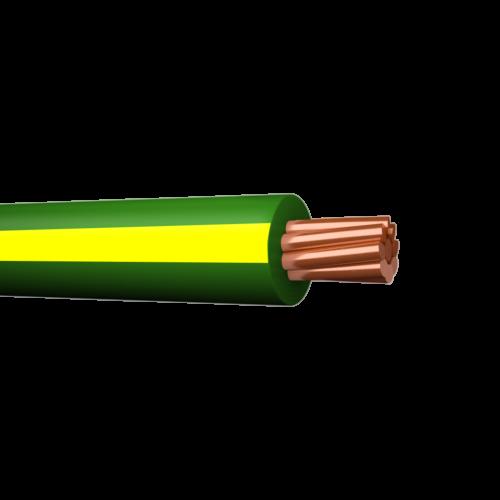 Halogeenivaba montaazijuhe jämekiud MK-HF C-Pro 6mm2 Cca kolla-roheline, 500m trumlil, Draka
