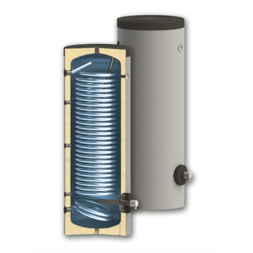 Boiler soojusvahetiga 300 300 l / 3,3m²,isoleeritud
