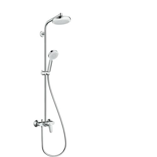 Dušisegisti Crometta 160 showerpipe, kroom, valge