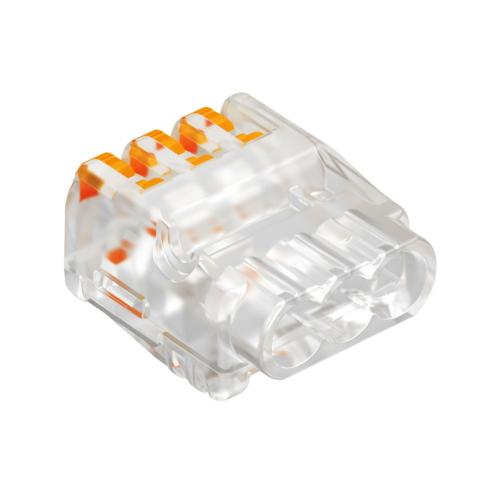 Klemm avatav 3-ne kiud/ plank 0,2-2,5mm2 läbipaistev, 75tk pakis, OBO