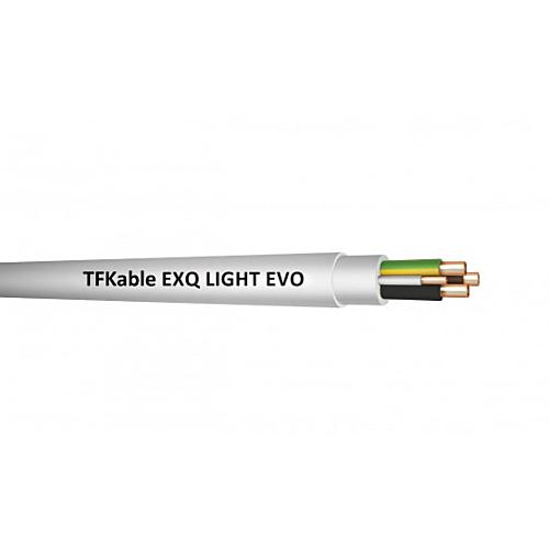 Halogeenivaba kaabel EXQ Light EVO 5G2,5 500V B2ca valge 100m rullis, Telefonika