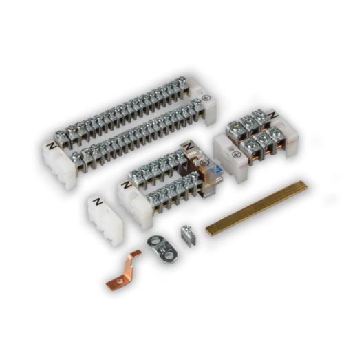 N ja PE Cu latt 16 klemmi. 2x(1x16mm²+7x6mm²), Ensto