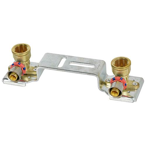 Kraanipõlvedega paigaldusplaat 16x1/2''sk 150mm LBP F8 press Rifeng