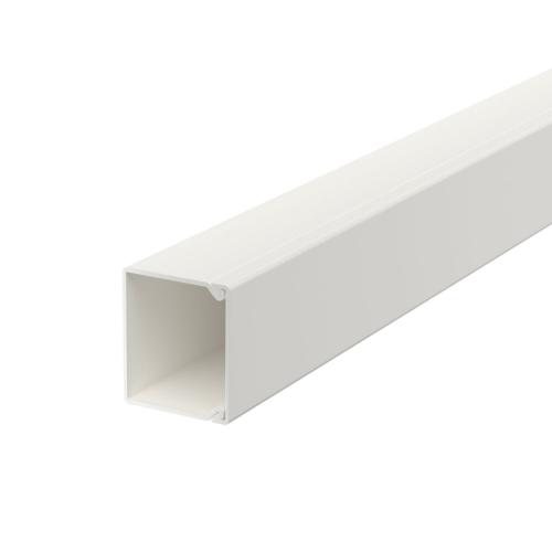 Karbik kaanega 30x30mm L=2000mm PVC polaarvalge, OBO