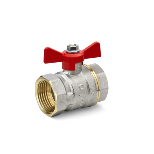 "Kuulkraan 1"" SK/SK standard ava PN25 130°C liblik käepide"