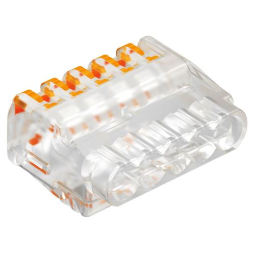 Klemm avatav 5-ne kiud/ plank 0,2-2,5mm2 läbipaistev, 50tk pakis, OBO