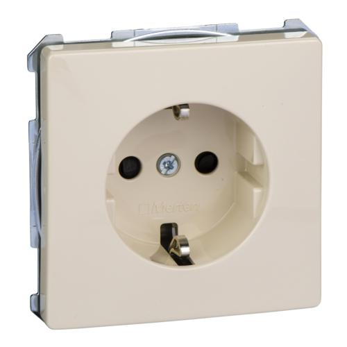 1-ne pistikupesa maandusega, lapsekaitsega, vedruklemm, valge, Schneider Merten System D, Artec