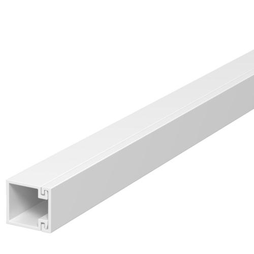 Karbik kaanega 15x15mm L=2000mm PVC polaarvalge, OBO