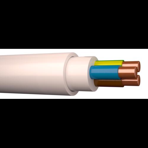 Kaabel XPJ 3G2,5 500V valge, 100m rullis, Draka