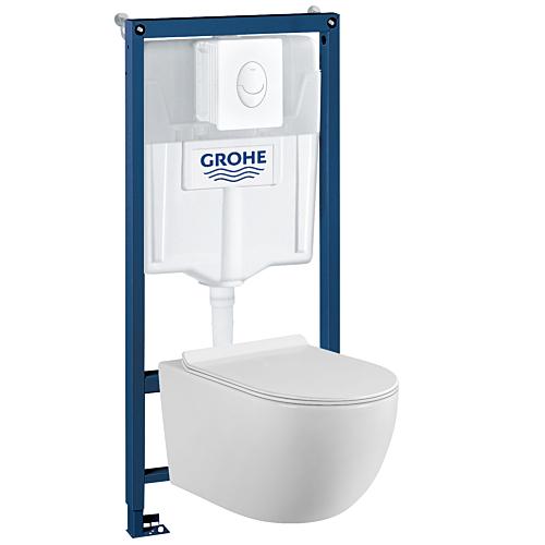 Seina WC komplekt raamiga Grohe38722+Flory FCT18029