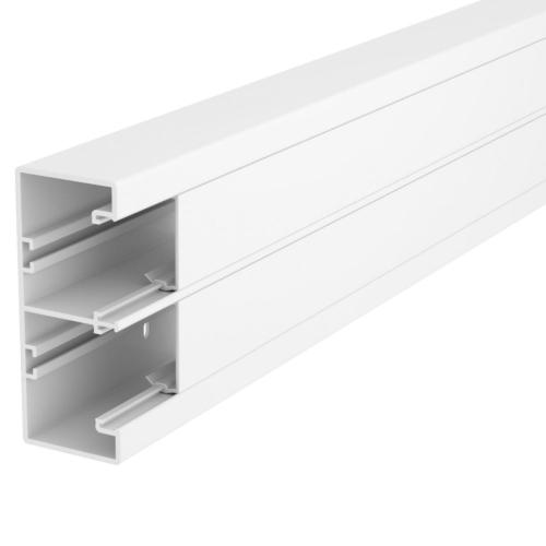 Seadmekarbik Rapid 45-2, 53x130x2000, PVC, 2 osaline, polaarvalge, OBO GK-53130RW