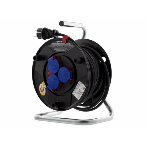Rullpikendus H05RR-F 3G1,5, 20m, must kummikaabel IP44, Brennenstuhle