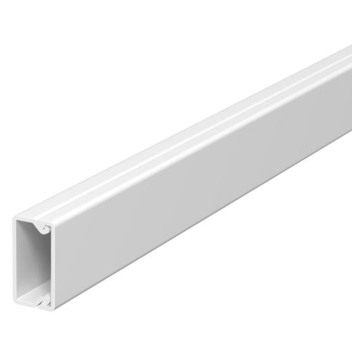 Karbik kaanega 10x20mm L=2000mm PVC polaarvalge, OBO