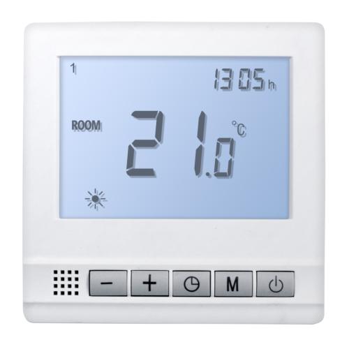 Termostaat põrand/õhk 24V digitaal. valge Heber