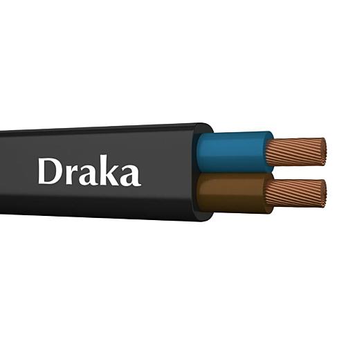 Kiuline kaabel 2x0.75, must lapik, 100m rullis, Draka