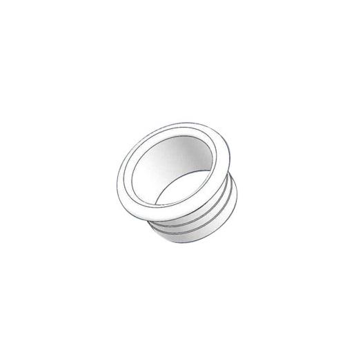 Alumiiniumtoru otsakork 20mm valge, plastik