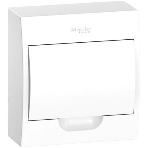 Jaotuskilp pinnapealne 8 moodulit, valge uks IP40 plast