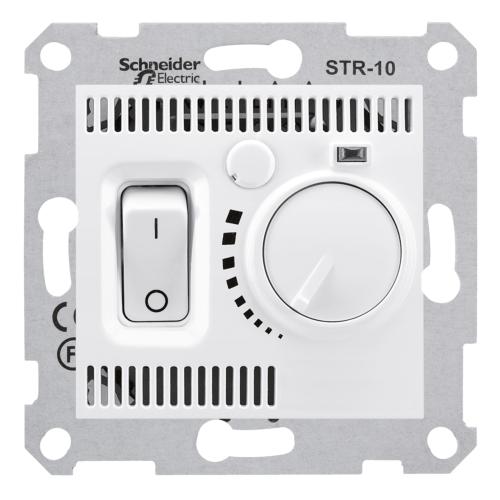 Termostaat ruumi 10A-230V valge Sedna