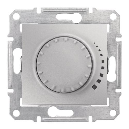 Dimmer suru-pöördnupuga, 60W-325W, alumiinium, Schneider Sedna