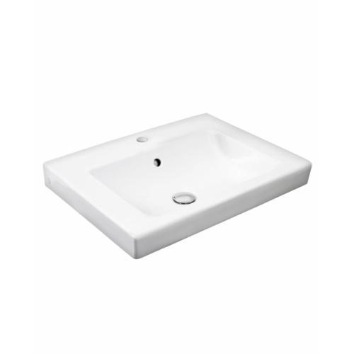 Süvistatav valamu ARTic 600x465 valge+ceramicplus