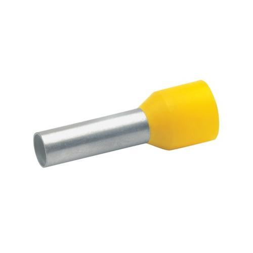 Otsahülss isoleeritud 6mm2/12mm, kollane, 100tk pakis KLAUKE