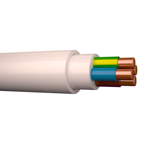 Halogeenivaba kaabel XPJ-HF 4G2,5 500V Dca valge 100m rullis, Draka