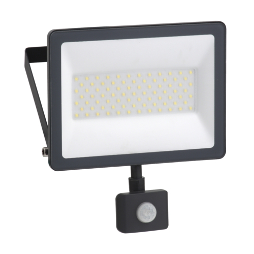 LED Prozektor Mureva 50W, 4000K, IP44, PIR-sensoriga, Schneider