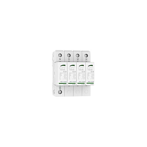 Liigpingepiirik 4P 7,5kA Tüüp 1+2(B+C), Imax 50kA, TNS süsteemile, CPT PSC4-7,5/400