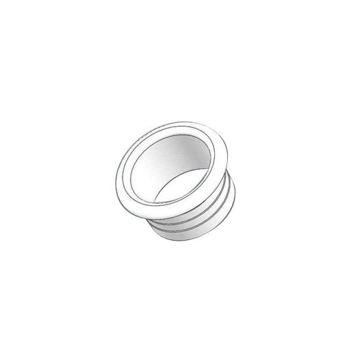 Alumiiniumtoru otsakork 16mm valge, plastik