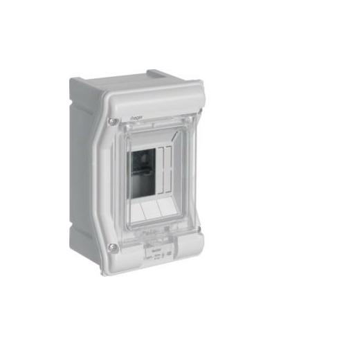 Pinnapealne jaotuskilp VE103L, 1x3 moodulit, IP65, PE/N latiga, plast, hall, Hager Vector