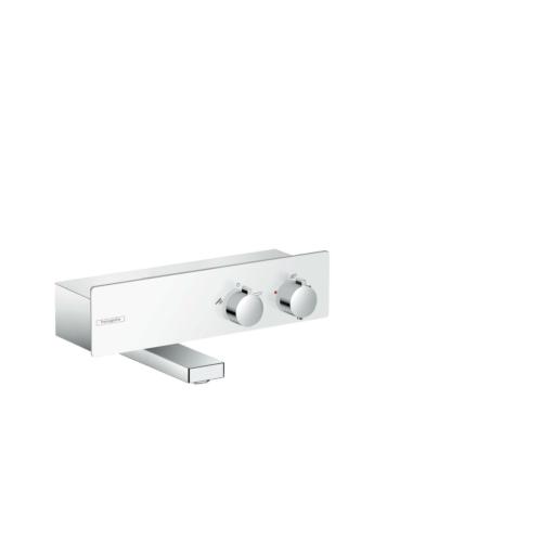 Termostaadiga vannisegisti Shower Tablet 350 valge/kroom