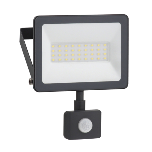 LED Prozektor Mureva 20W, 4000K, IP44, PIR-sensoriga, Schneider