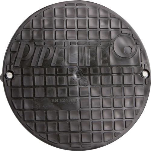 PP kaevukaas 200 1,5T poltidega fikseertav EN124 A15, must Pipelife