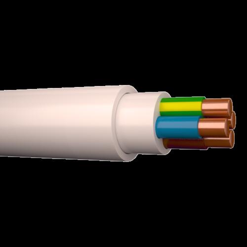 Halogeenivaba kaabel XPJ-HF 4G1,5 500V Dca valge 100m rullis, Draka